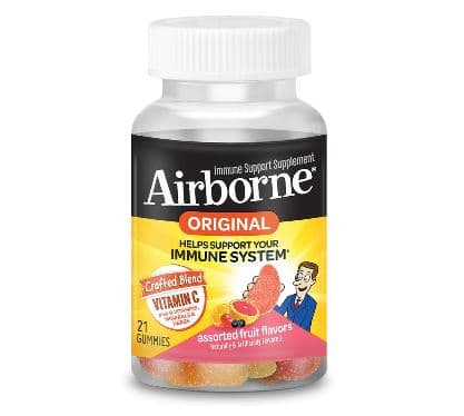 Airborne 21 ct - Vitamin C and Immune Support, Assorted Fruit Flavored Gummies $2.80