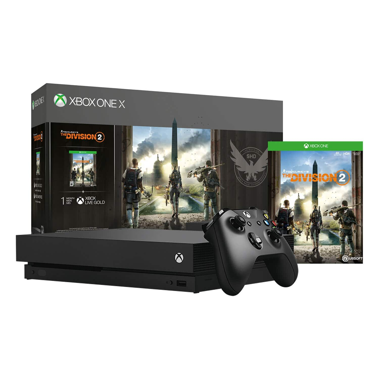 XBOX ONE X 1TB CONSOLE/TOM CLANCYS THE DIVISION 2 BUNDLE - $287.99 + 20% Back Rakuten Points + 1% Cash Back