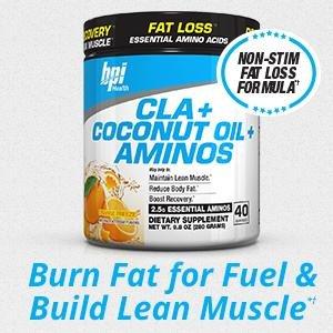 BPI Sports CLA + Coconut Oil + Aminos Non Stimulant Fat Loss Supplement Powder Lightning Deal $13.75 Orange Freeze