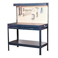 Harbor Freight Deal: Harbor Freight Workbench with drawers, cabinet light, built in outlets $79.99