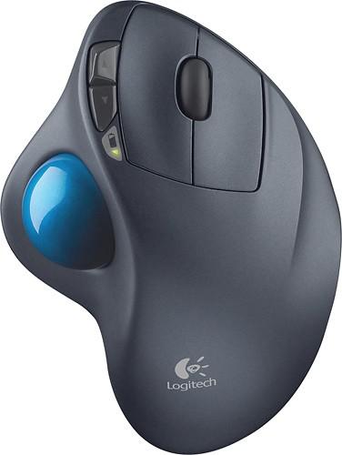 Logitech - M570 Wireless Trackball Mouse - Gray/Blue $24.99 at Best Buy