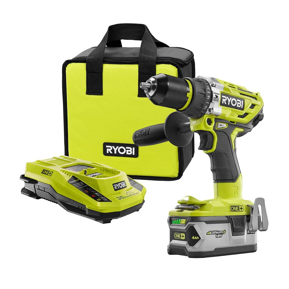 RYOBI ONE+ 18 Volt Lithium-Ion Brushless Hammer Drill Kit (Factory Blemished) - $77.99 + $7 Shipping - Direct Tools Factory Outlet