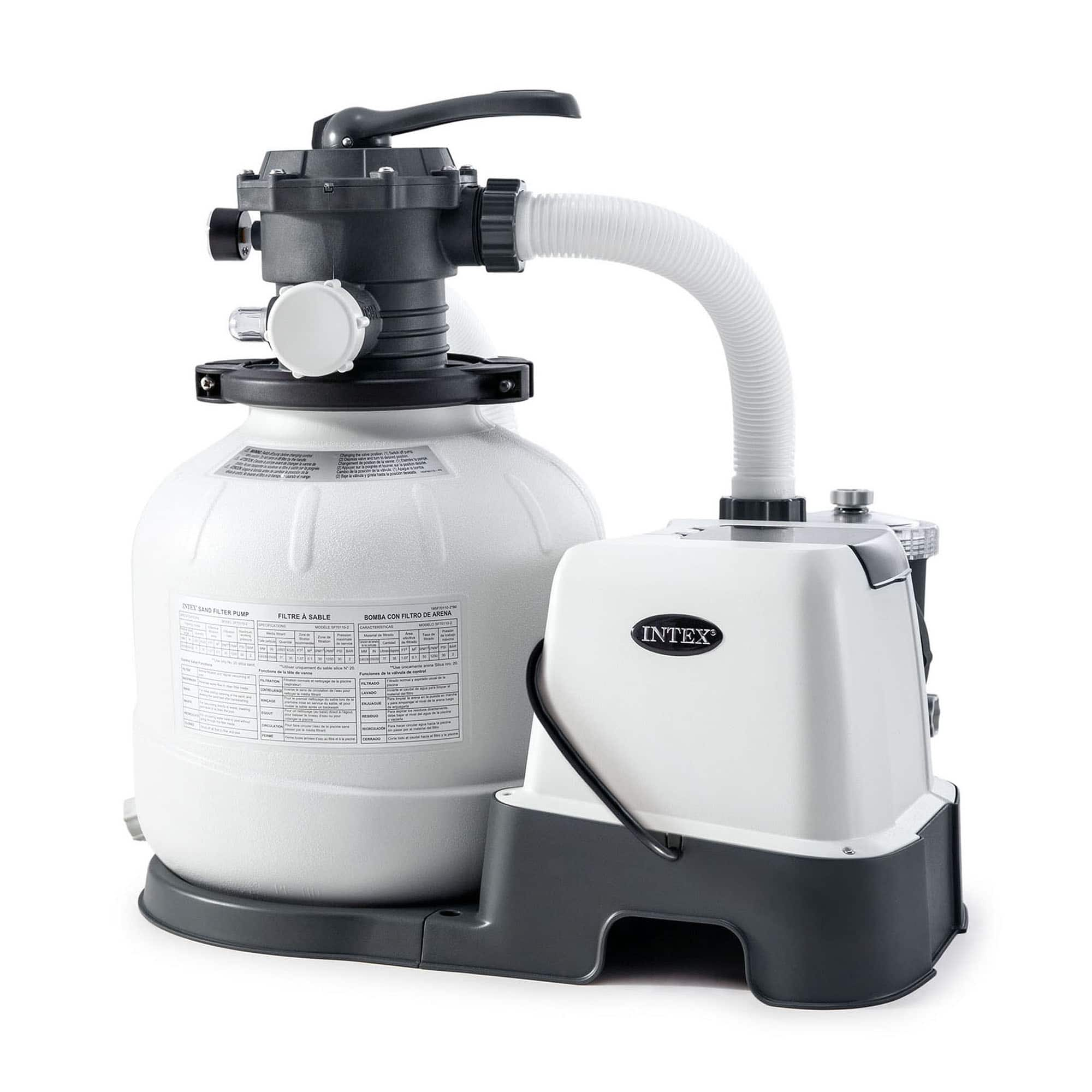 Intex 14 Inch Krystal Clear Saltwater System and Sand Filter Pump $259.99