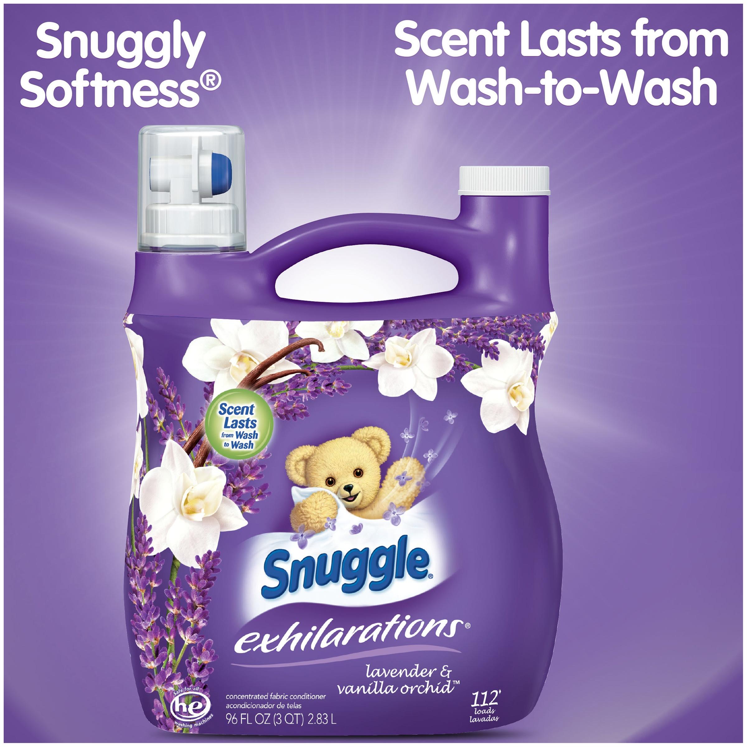 Snuggle Exhilarations Lavender & Vanilla Orchid, 112 Loads Liquid Fabric Softener 96 fl oz $5.97
