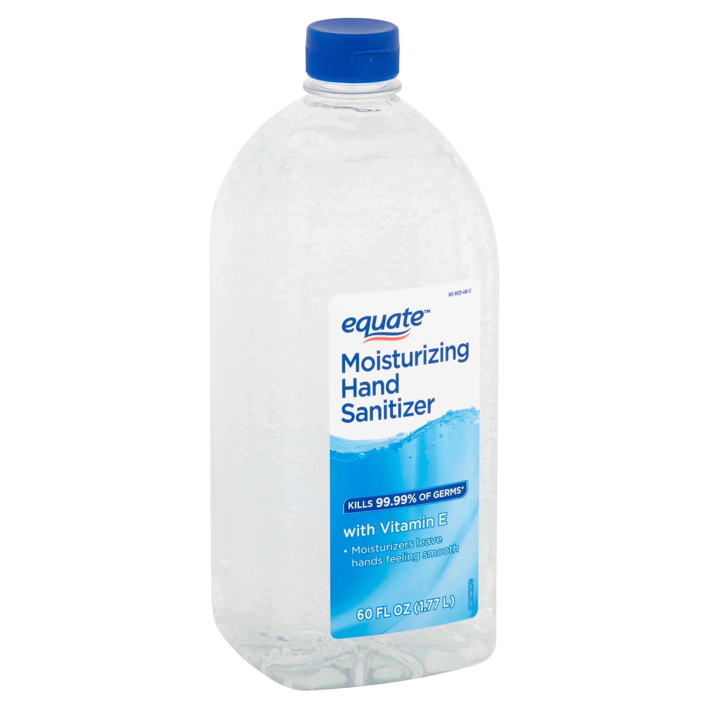 Equate Moisturizing Hand Sanitizer, 60 fl oz $5.97