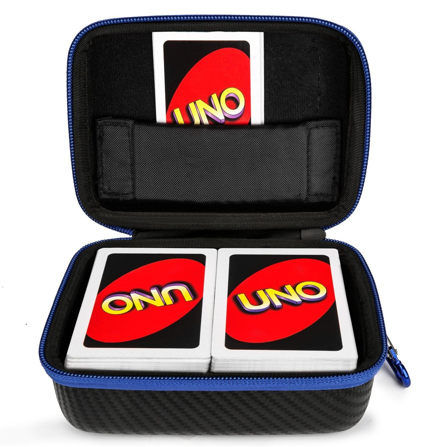 DOUBI Carrying Case for UNO Card Game - fits up to 400 cards on sale for $6.99