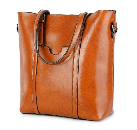 Women's Soft Leather Tote High Style for $47.99 (20% OFF) + FS @ Amazon