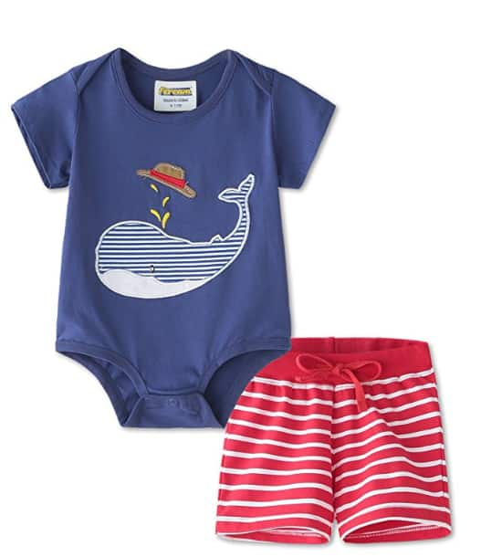Baby Boys Cotton Summer Clothing Set with Shorts and Shirt for only $5.07