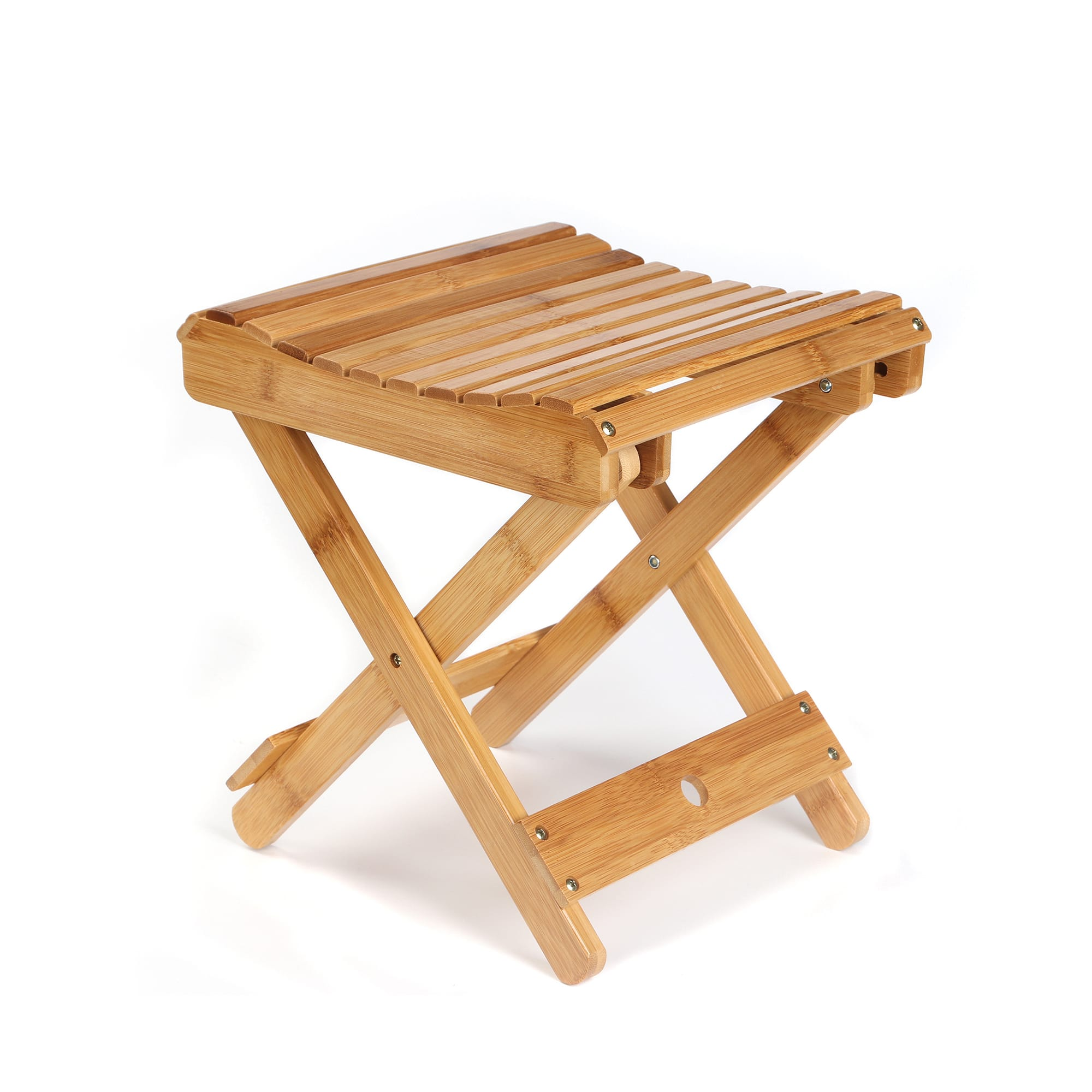 "ETECHMART 12"" Eco-friendly Bamboo Folding Stool for Shower on sale for $29.66"