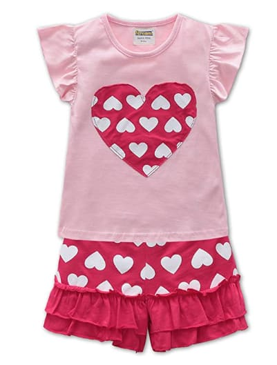 Fiream Baby Girl Short Sleeve Clothing Set Outfits (various styles) on sale for $5.70 (62% off)