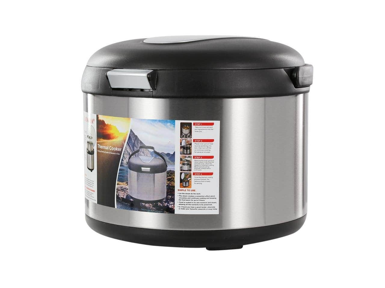 Tayama TXM-50CF Energy-Saving Thermal Cooker, 5 L, Black $37.50 + FS