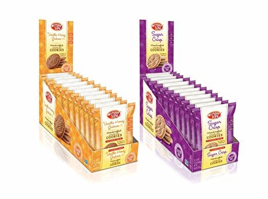 Enjoy Life Crunchy Cookie Snack Pack Variety Pack, Sugar Crisp/Vanilla Honey Graham (Pack of 24) $15.85 or less S&S + FS