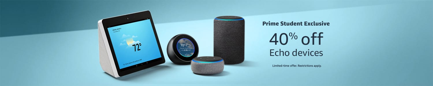 40% Off Select Echo Devices for Prime Students $21