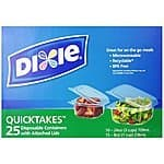 25-Ct Dixie Quicktakes Disposable Food Storage Containers w/ Lids  $4.25