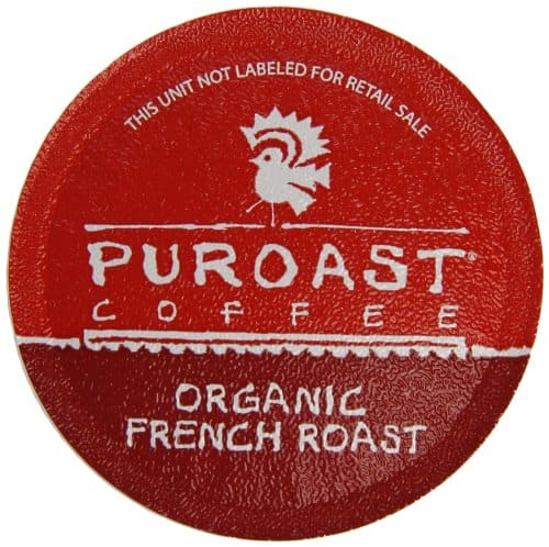 Puroast Coffee Organic Single Serve Keurig Cups, French Roast, 30 Count $10.59 or better after 40% off coupon & 5% S&S Amazon Prime Members only