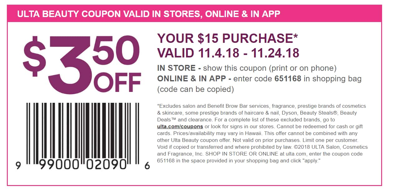 can you show ulta coupon on your phone