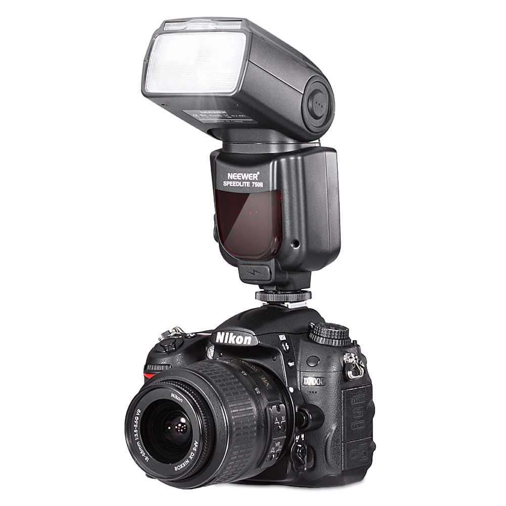 Neewer 750II TTL Flash Speedlite with LCD Display for Nikon DSLR Cameras $39