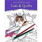 Adult coloring book, Cats & Quilts. 28% off