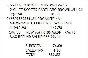 Milorganite 36LB for $6/bag - Home Depot price match with Fleet Farm (normally $7.49, on sale for $6)