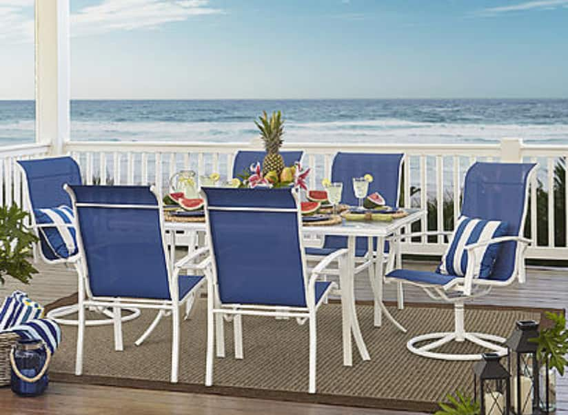 Garden Oasis Harrison 7 pc. Glass-Top Dining Set + Get $290 Reward back  with in store pick up