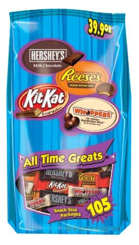 Hershey's All-Time Greats Snack-Size Assortment (105-Count Bag) $8.49 @ Amazon w/ 5+ S&S