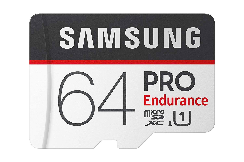 Samsung PRO Endurance 64GB Micro SDXC Card with Adapter - 100MB/s U1 (MB-MJ64GA/AM) $17.69