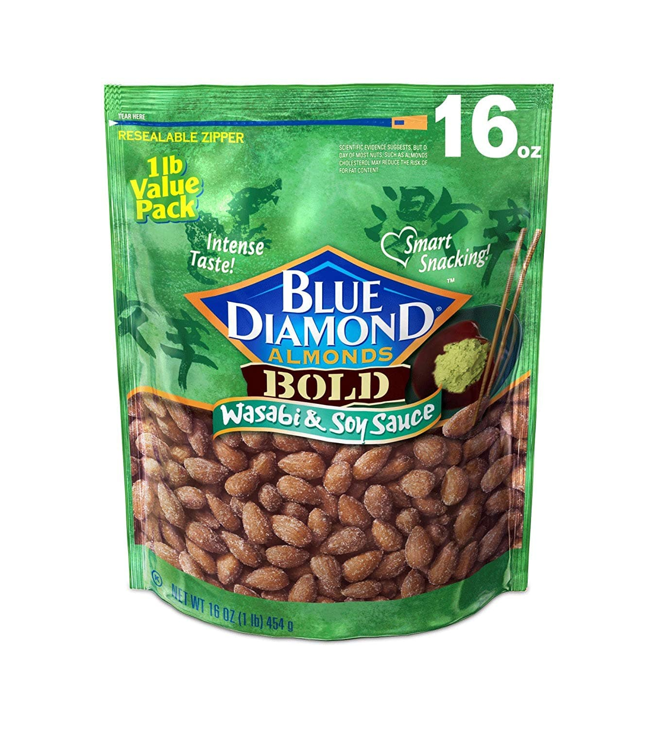 Blue Diamond Almonds Bold Wasabi & Soy Sauce Almonds $5.69 (16 Ounce) w/ S&S