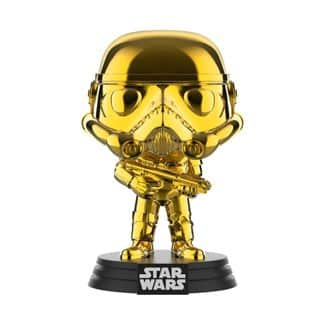 Funko POP! Star Wars: Gold Chrome Stormtrooper (Shared Exclusive) $4.27