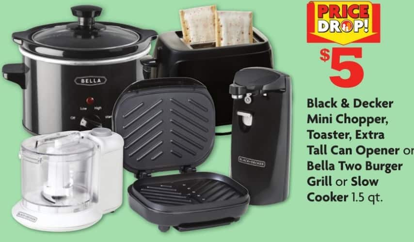 Black and Decker Small Appliances $5 or 5/$20 at Family Dollar Store B&M