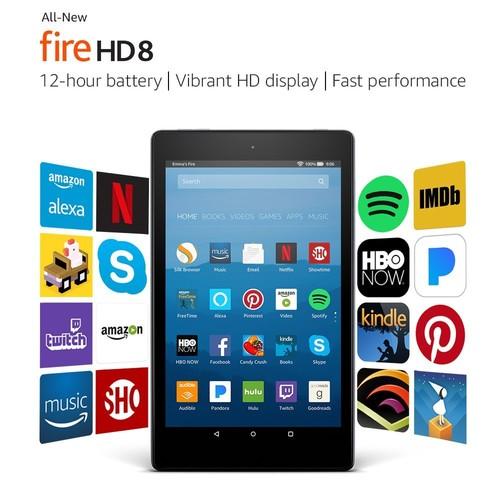 "Fire HD 8 Tablet with Alexa, 8"" HD Display, 32 GB, Black - with Special Offers [Black, With Special Offers, 32 GB] $99.99"
