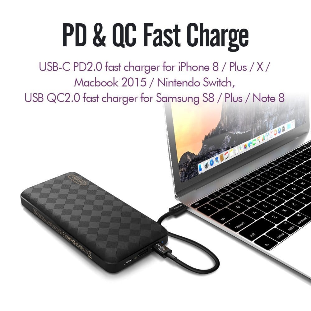 iMuto 20100 USB-C PD Power Bank - $47.99 (20% Off w/Coupon)