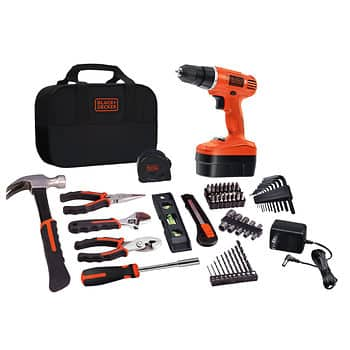 Black & Decker 83-Pc. Home Project Drill Kit (Model GC180183PKBJ) $39.99