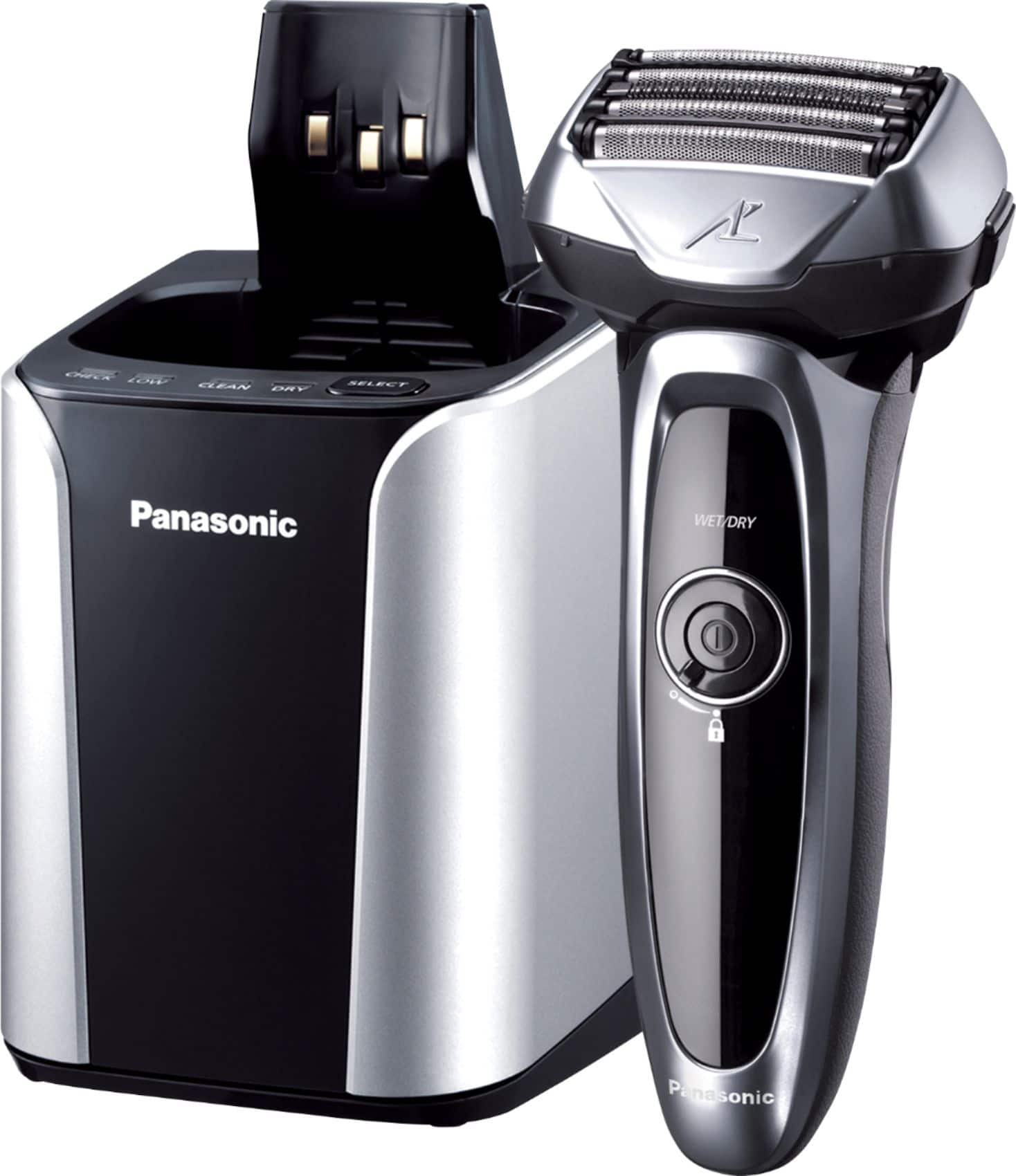 Panasonic Arc5 Automatic Cleaning/Charging Wet/Dry Electric Shaver Silver ES-LV95-S - Best Buy $168