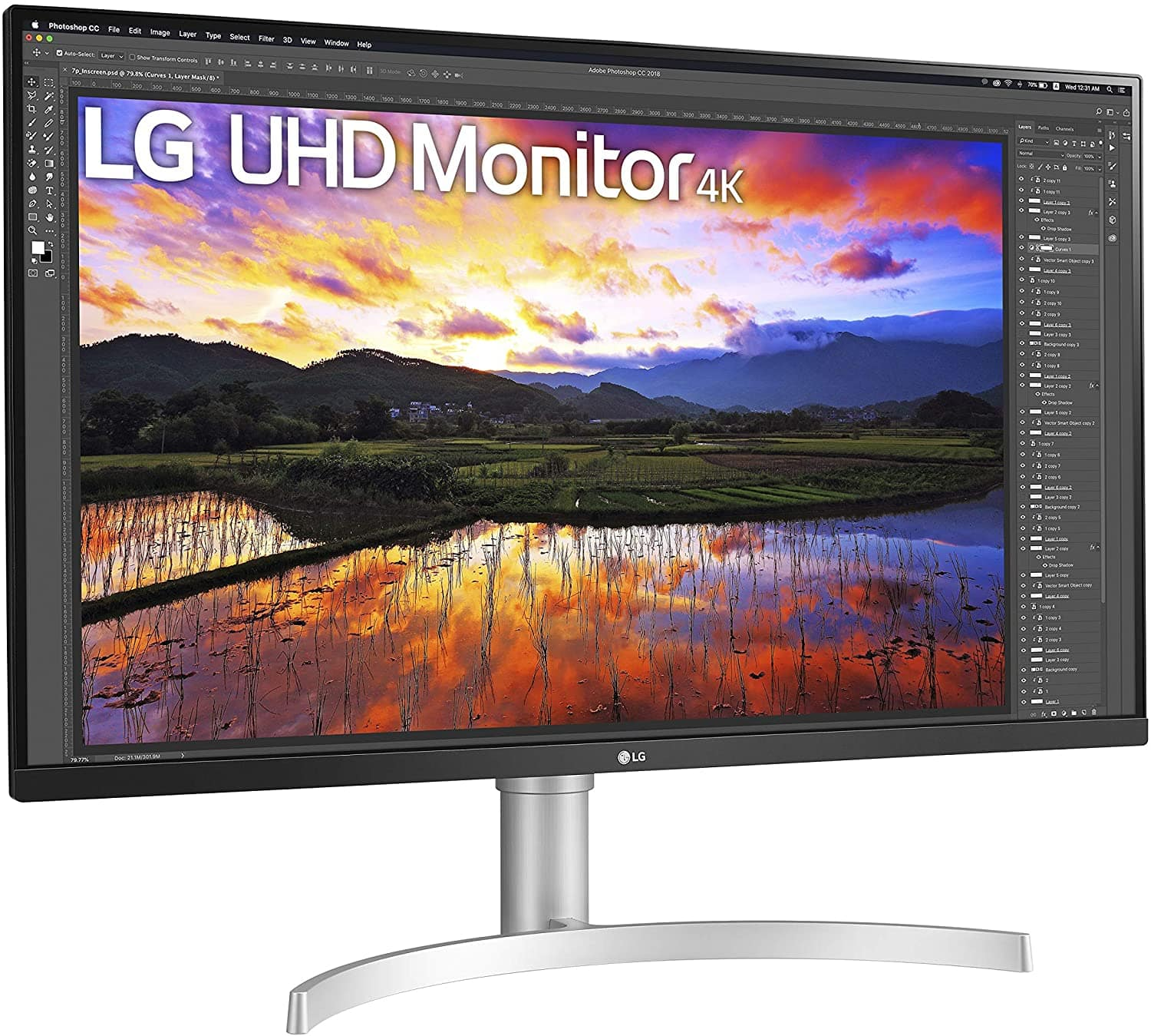 LG 32UN650-W 32 Inch 4k UHD IPS 5ms 60Hz FreeSync Monitor $439.99