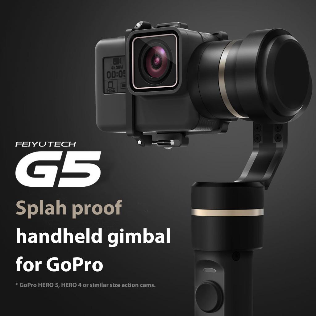 Feiyu G5 Splash-Proof Handheld Gimbal 3-Axis for GoPro HERO 5 HERO 5/4/3/3/AEE   $140
