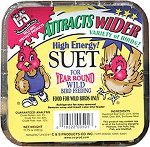 Bird suet C&S High Energy Suet on Amazon 92¢ free ship with Prime