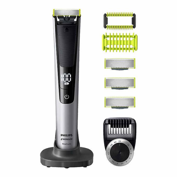 Philips Norelco OneBlade Pro with 3 blades, skin guard for body and bidirectional body comb $59.99 at Costco