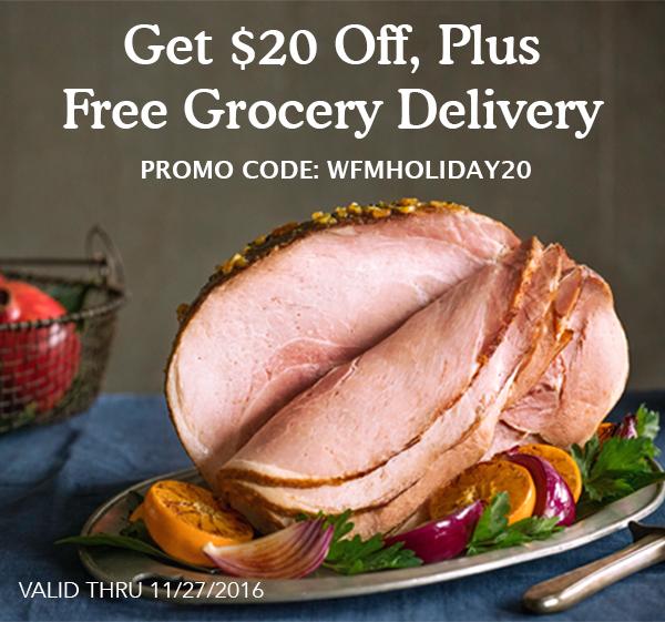$20 off $35 or more @ Whole Foods Market online via