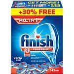 Finish® All-In-One Dishwasher Detergent Powerball Tabs Bonus Pack 145ct for $13.99 (0.096c/count) at Costco