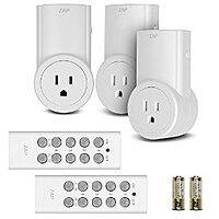 Amazon Deal: Etekcity Energy Saving Wireless Remote Control Electrical Outlet Adapter Kit (3 Receiver & 2 Remotes) $15.98 AC @ Amazon FS W/Prime