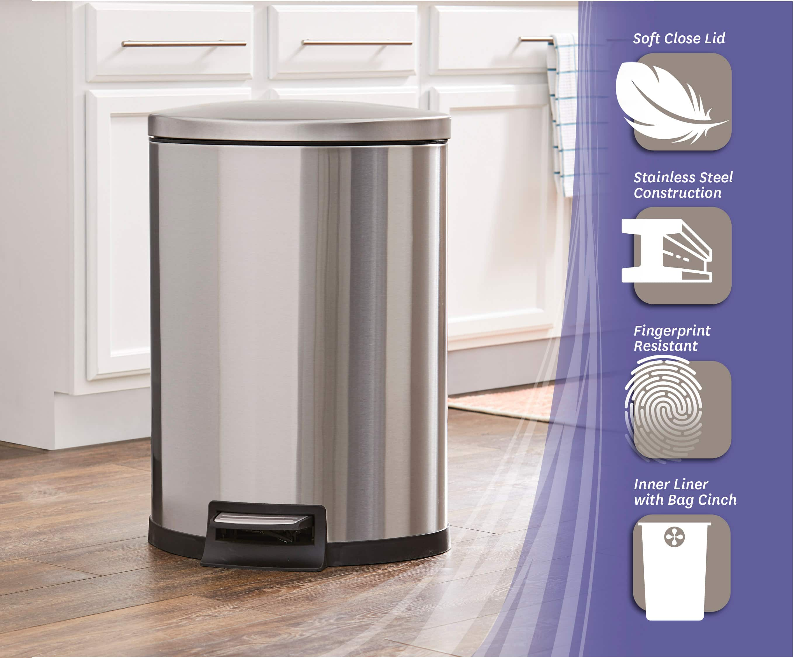 YMMV - $17 (was $69)  Better Homes & Gardens 11.8G Stainless Steel Semi Round Waste Can