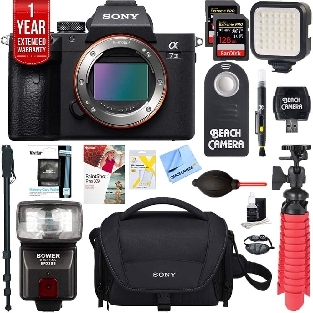 Back again, Sony a7III Mirrorless Digital Camera Body + 256GB Memory + Flash Accessory Bundle $2098, Free overnight shipping.