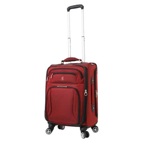 "Swissgear 20"" Zurich Carry On Luggage Spinner (Burgundy) $35.98 Target in-store Clearance YMMV"