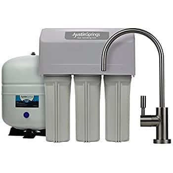 $109.99 - Austin Springs 5-Stage Reverse Osmosis Drinking Water Filter System with Brushed Nickel Faucet, 75 GPD with free bonus replacement filters