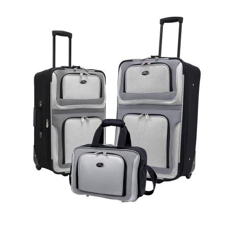 U.S. Traveler New Yorker 3-Piece Luggage Set in Gray - $26 @ Walmart