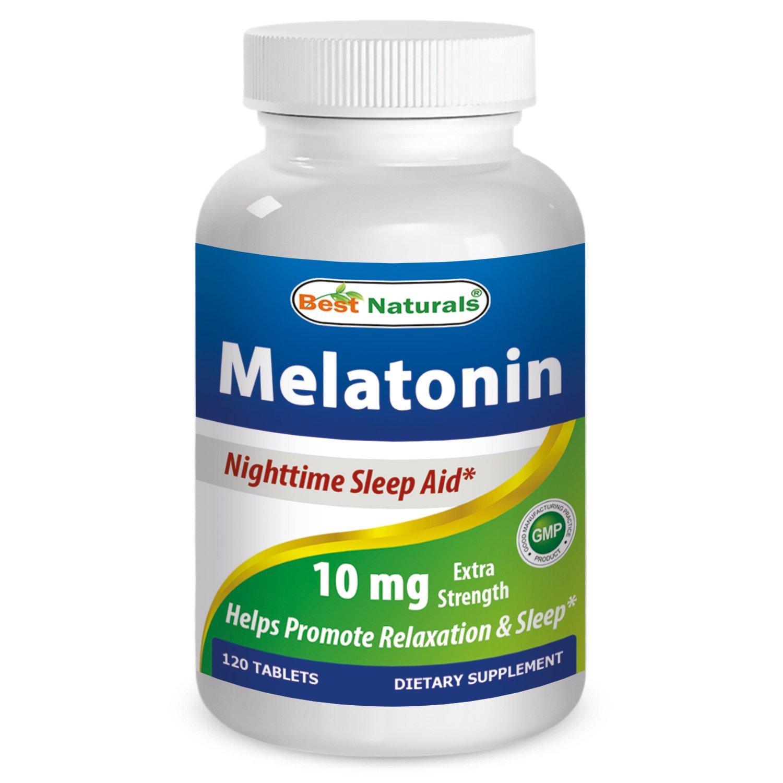 Best Naturals Melatonin 10mg tablet for sleep & jet lag, 120 ct  $9.59 amazon prime 2 day shipping