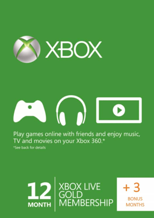 15 Months (12 + 3 bonus) XBOX Live Gold Membership for $55.19