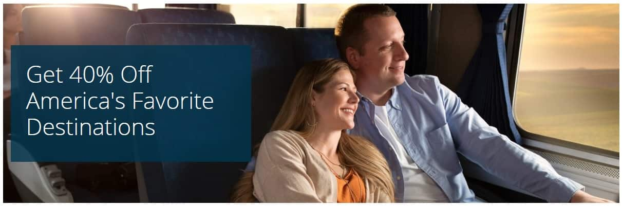 4 Days Only - Amtrak Across America 40% Off Sale
