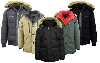 7610f7071 Spire By Galaxy Men's Heavyweight Winter Parka Jackets with ...