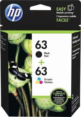 HP 63 Black Tri-color Ink Cartridges 2 Pack L0R46AN $22.99
